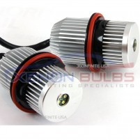 40w CREE BMW E60 E61 E39 E53 X5 E65 E66 5 7 LED MARKER ANGEL RINGS..