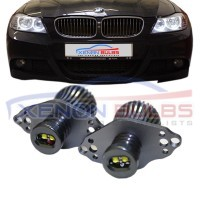 BMW E90 E91 LCI WITH HALOGEN HEADLAMPS 20W CREE ANGEL EYES HALO RINGS ..