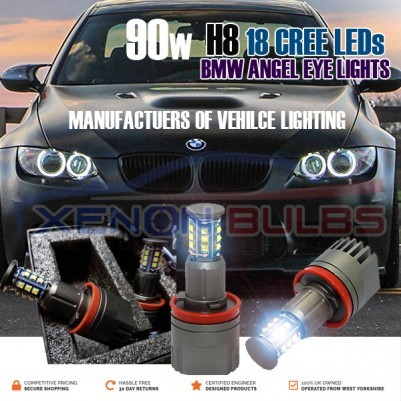 STEALTH LED BMW H8 90W 16 CREE ANGEL EYES SUPER WHITE