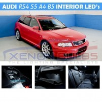 AUDI 13 PC B5 A4 S34 RS4 WHITE LED INTERIOR KIT Avant..
