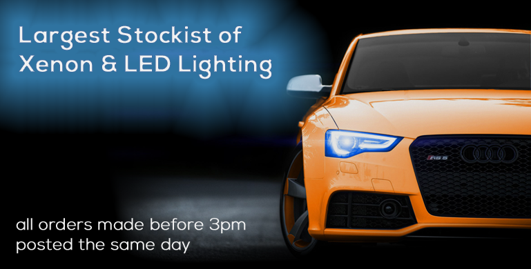 Largest Stockist of  Xenon & LED Lighting