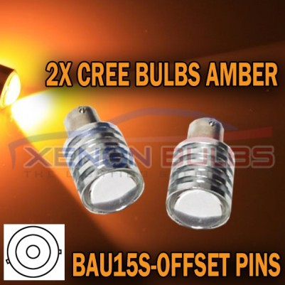 5W AMBER CREE BAU15S CANBUS ERROR FREE