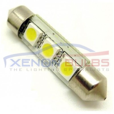 39MM LED Festoon Bulbs 3 SMD CANBUS ERROR FREE
