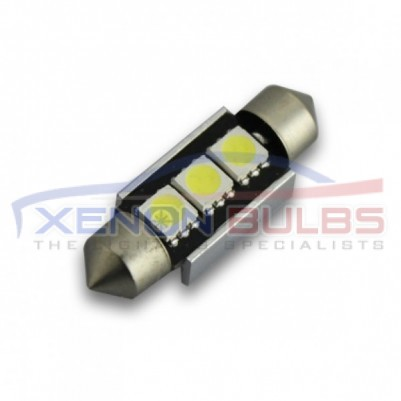 36MM FESTOON BULBS LED 3SMD CANBUS ERROR FREE