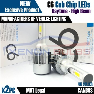 C6 H15 DRL AND MAIN BEAM White 5000K LED