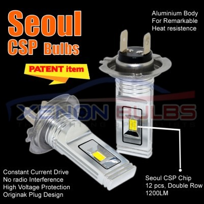 H1 H7 H3 CSP Seoul 12 Chip LED Headlight Bulb Canbus Error Free