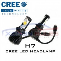 H7 Pair 2200LM 5000K 24W CREE CXA 1512 LED Car Headlight Bulb Lamp 10-..