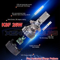K8F Mini LED Headlight Kit Dipped High Fog Light White 26w ..