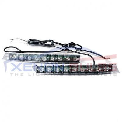 9 LED Daytime Running Lights DRL 6000k white unit grill