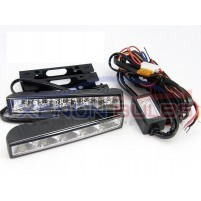 5 LED DRL DAYTIME RUNNING LIGHT WHITE IGNITION START..