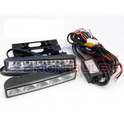 5 LED DRL DAYTIME RUNNING LIGHT WHITE IGNITION START