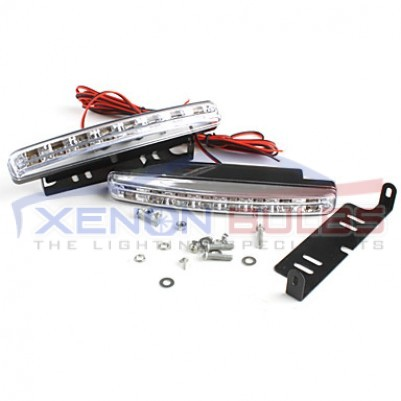 8 LED WHITE DRL DAYTIME RUNNING LIGHT