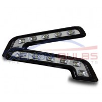 MERCEDES 6 LED L SHAPE DRL DAYTIME RUNNING LIGHT..