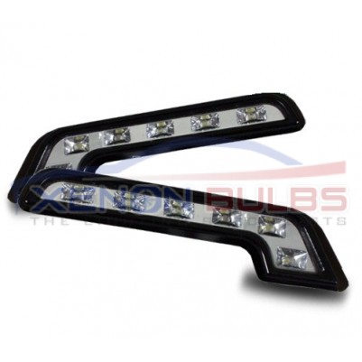 MERCEDES 6 LED L SHAPE DRL DAYTIME RUNNING LIGHT