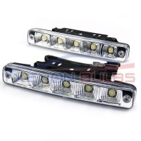 5 LED Daytime Running White 19CM universal high power DRL..