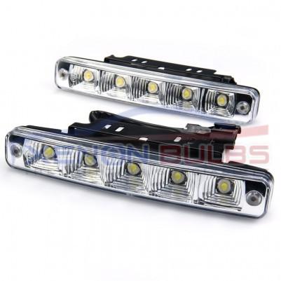 5 LED Daytime Running White 19CM universal high power DRL