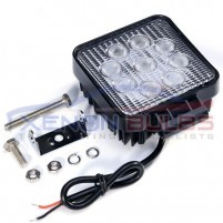 27W SQUARE 9 LED FLOOD WORKING OFFROAD LIGHT ..