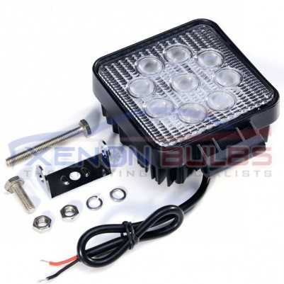 27W SQUARE 9 LED FLOOD WORKING OFFROAD LIGHT