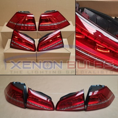 Golf MK7 LED Tail Lamps GTD GTI R Rear Tail Lights Light PLUG & PLAY