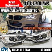 Aftermarket BMW F30 Bi xenon Headlamps same as oem Genuine angel eyes ..