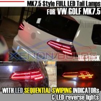 Golf MK7.5 Style for 7.5 LED TAIL LAMPS with SEQUENTIAL FLOWING INDICA..