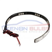 LED DAYTIME RUNNING LIGHT STRIP DRL 5050 SMD FLEXIBLE 30cm COOL WHITE..