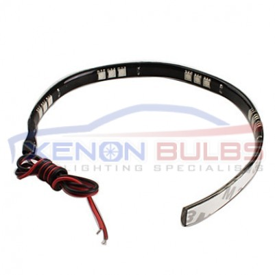 LED DAYTIME RUNNING LIGHT STRIP DRL 5050 SMD FLEXIBLE 30cm COOL WHITE
