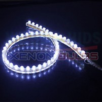96CM WHITE FLEXIBLE LED AUDI CAR STRIP DAYTIME RUNNING LIGHT..