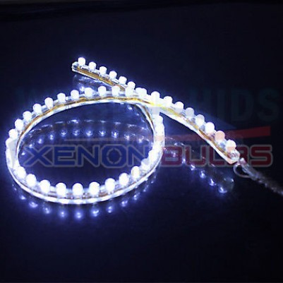 96CM WHITE FLEXIBLE LED AUDI CAR STRIP DAYTIME RUNNING LIGHT