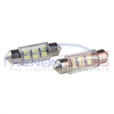 2x6 SMD 36mm LED White light bulbs C5W 239 festoon 257 269 SV8