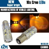 2x 50w AMBER CANBUS ERROR FREE CREE 1157 380..