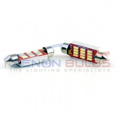 2pcs 36MM 39MM 42MM 12 SMD 4014 CANBUS LED'S White