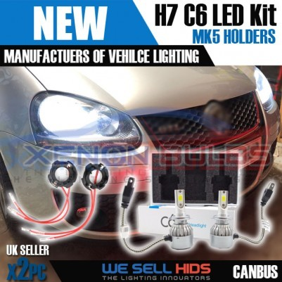 VW Golf MK5 LED C6 kit + bulb holders