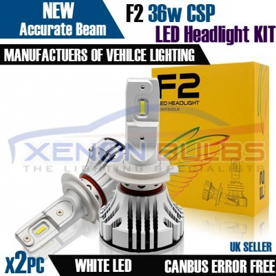F2 H4 H7 CANBUS ERROR FREE WHITE LED KIT 6500K  MOT LEGAL ACCURATE BEAM PATTERN
