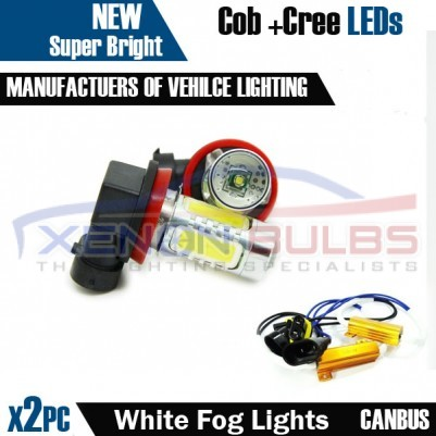 H11 White Cob and cree fog light canbus bulb kit