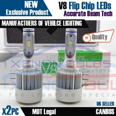 2x H15 V8 VW Golf MK6 Touran LED Headlight Bulbs Kit 3800 Lumens Canbus DRL