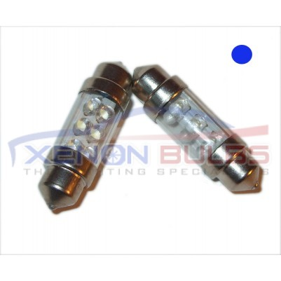 36MM 6 LED BLUE FESTOON BULBS