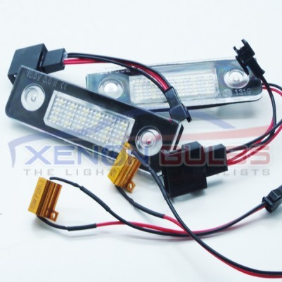 SKODA LED NUMBER PLATE UNIT 18 SMD WHITE CANBUS