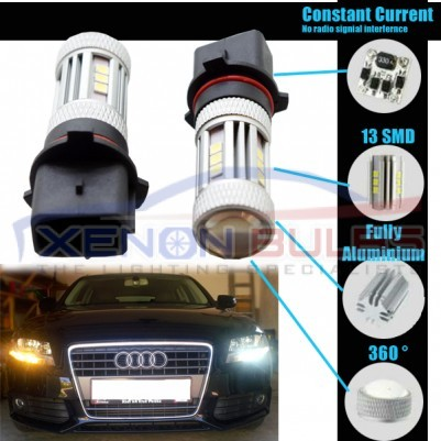 2x P13W 3030 SMD LED DRL SIDE LIDE BULB CANBUS