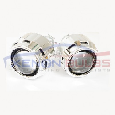 "BI-Xenon Projector Lens light HID H1 H7 H4 lense mini 2.5"" ball chrome shroud"