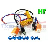 H7 LED Light Xenon HID HeadLight Fog DRL No Error Resistor Wiring Harn..