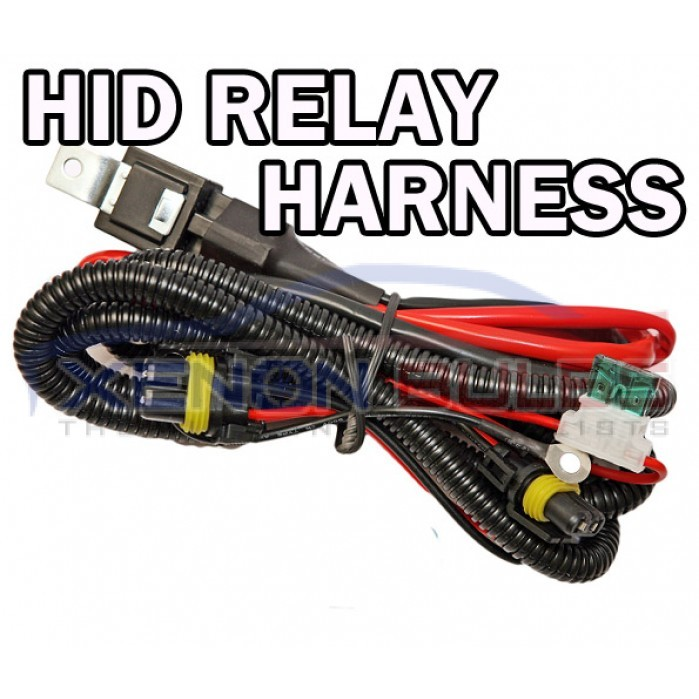HID Wiring Harness dual H7 H1 H3 fused Relay Loom Car ... on