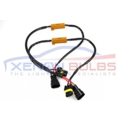 HB4 9006 LED Light Xenon HID HeadLight Fog DRL No Error Resistor Wiring Harness