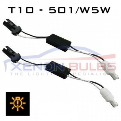 T10 - 501/W5W LED CANBUS RESISTOR - ADAPTOR KIT